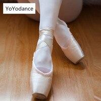 Женский Профессиональный Атлас парусиновые Балетные пуанты танцевальная обувь лента включает в себя детские балет носки практическая обу...