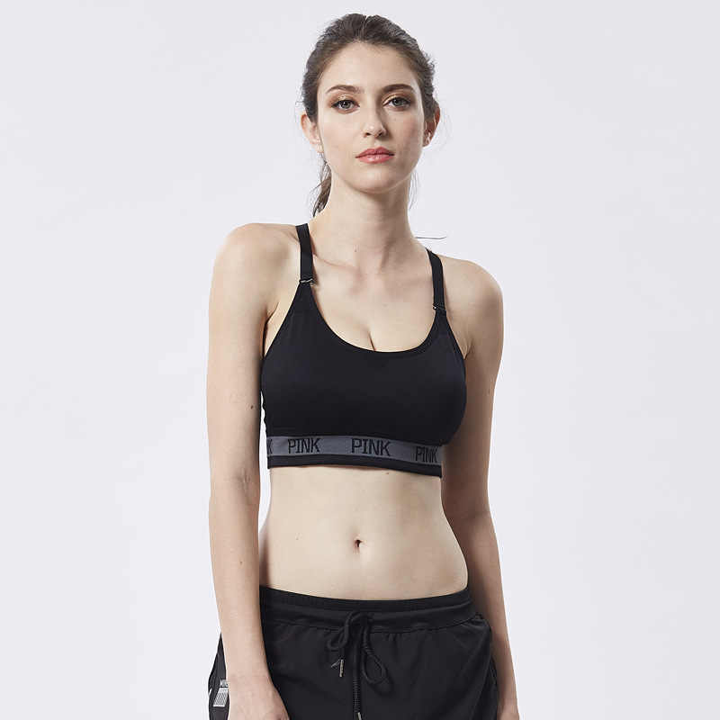 a8e21c47c6e ... AfroditaUme Women Fashion Crop Top Breathable Padded Bra Tank Top Vest  Fitness Stretch Women s genie Workout