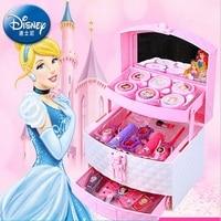 princesse disney kids makeup toys makeup girls Box Set Girl lipstick eye shadow non toxic nail polish toys birthday gift
