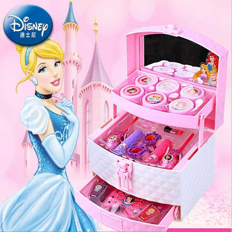 Disney princess toys for girls Box Set Girl lipstick eye shadow non-toxic  nail polish toys princess girls toys for 8 years gift