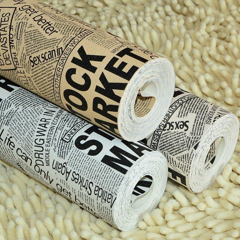 Beibehang noir blanc journal alphabétique magazine papier peint rouleau pour canapé salon papel de parede 3d papier peint rouleau