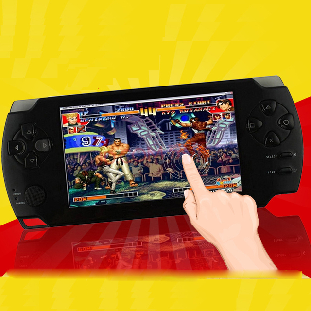 ¡ Venta caliente! 5000 juegos 8 GB 4.3 Pulgadas Reproductor De Juegos Portátil/MP5 Cámara de Vídeo y radio FM portátil consolas/Multimedia clásico juego