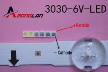LED 1000 개/몫 백라이트 높은 전원 LED 1.8W 3030 6V 쿨 화이트 150 187LM PT30W45 V1 TV 응용 프로그램