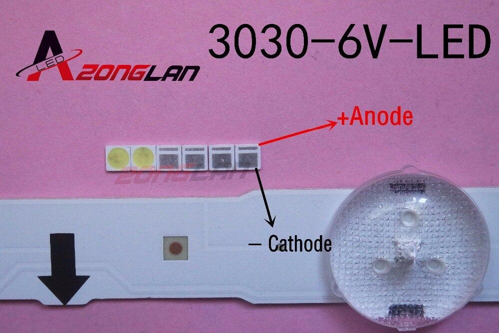 LED 1000 sztuk/partia podświetlenie dioda LED dużej mocy 1.8W 3030 6V zimny biały 150 187LM PT30W45 V1 do tvŚwiecące koraliki   -