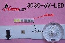 Luz de fondo LED 1000 unids/lote, alta potencia, 1,8 W, 3030, 6V, blanco frío, 150 187LM, PT30W45, V1, aplicación de TV