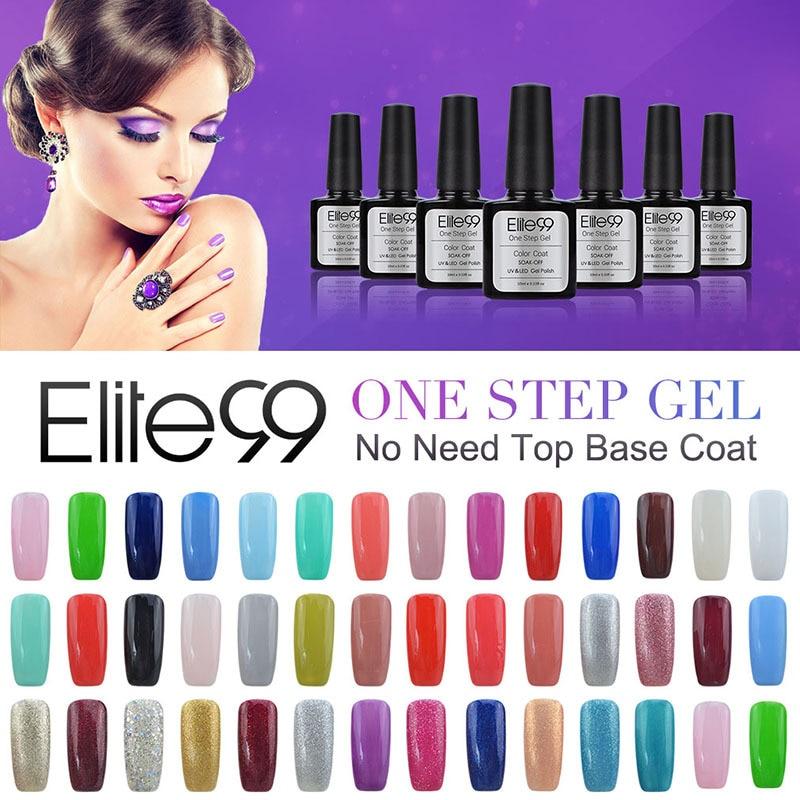 Elite99 One Step Professional Hot Sale Nail Gel Polish Color Glitter One  Step Soak Off UV Nail Gel No Base Coat Top Coat 10ML In Nail Gel From  Beauty ...