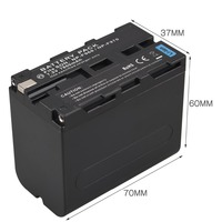 High Capacity 7 2V 7800mAh NP F970 NP F960 Decoded Camera Battery For Sony NP F960