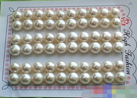 Hot Sale Free Shipping 30PCS WHOLESALE 30PAIR 9MM WHITE ROUND FW PEARL EARRING