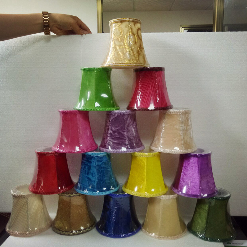 Flannel E14 Lamp Covers For Crystal Chandelier Pendant Lights Wall Lamp Colorful Lampshades DIY Lighting Accessories