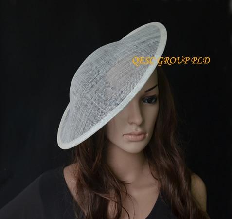 Новинка, кремовый цвет слоновой кости sinamay, Очаровательная основа, 1,3 см, атласные головные ободки повязки для свадьбы