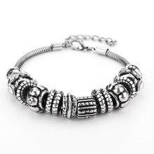 ECODAY Jewelry Vintage Bracelet Men Immitaion Tainsilver Charm Homme Pulsera Armband