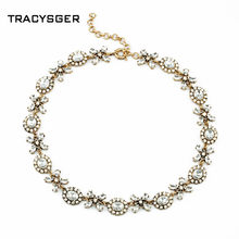 AB-xl00630/ Sweet Girl / custom jewelry /anti crystal collar necklace(China)
