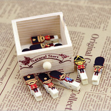 10 pcs/pack cartoon British soldiers photo Paper clips wooden clip DIY Decoration Clothespin Craft Clips Party with hemp rope 30pcs box cute fox chicken wooden clip photo paper clothespin craft clips party decoration clip with hemp rope