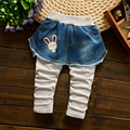 2016 New Classic Spring  Girls Soft Jeans Fashion Pants Trousers Children's jeans Infant Soft Denim Pants