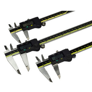 Image 1 - 150mm 200mm 300mm origem modo digital pinça de aço inoxidável eletrônico vernier caliper schieber caliper micrômetro + caixa
