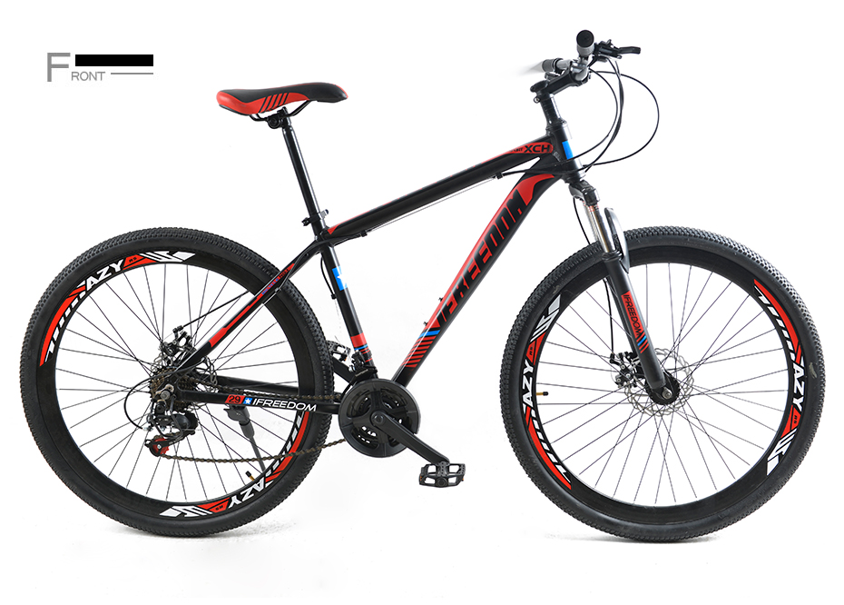 HTB1KQ1DteSSBuNjy0Flq6zBpVXak Love Freedom 21/24 Speed Aluminum Alloy Bicycle  29 Inch Mountain Bike Variable Speed Dual Disc Brakes Bike Free Deliver