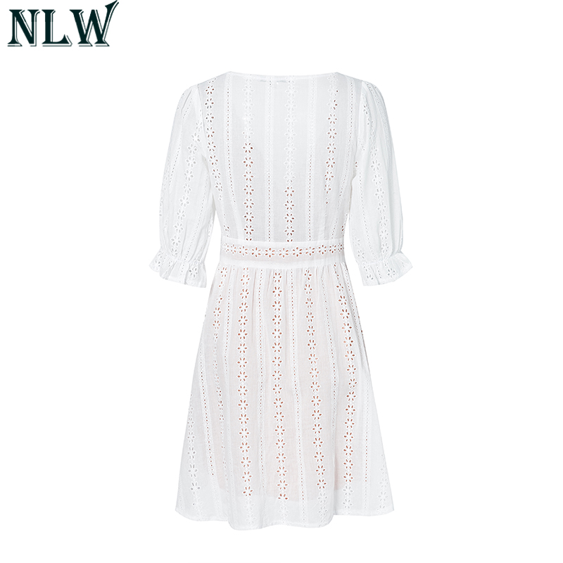 Sweet Lolita White Cotton Lace Dress 2