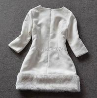 новый зима виктория бекхэм тонкий белый половина рукава платья женщин о-bras изделия платья бесплатная доставка прямая поставка оптического