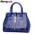2017 women Fashion vintage Floral Embossed Handbags Famous designers brand Shoulder Bags female leather Totes