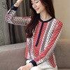 Chiffon Blouse Shirt Striped loose Woman Blouses