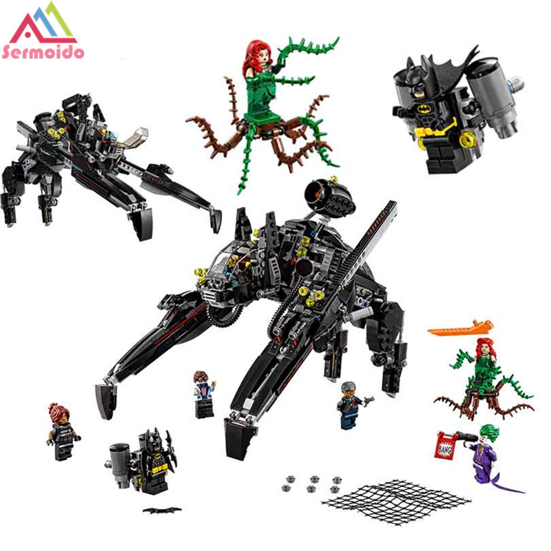 775Pcs Genuine Movie Series The Scuttler Bat Spaceship Set Building Blocks Bricks Education Toys 70908 Compatible with Lego