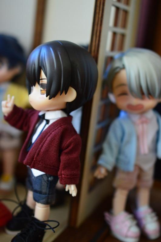 Obitsu11 OB11 Cu-poche Doll Coat 1/12 Size Cardigan Doll Accessories Doll Clothes Shirt Pants