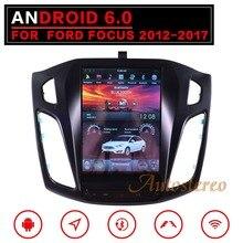 Тесла стиль Android 7 большой Экран автомобиля нет dvd-плеер gps навигации для Ford Focus 2012-2018 Auto navi стерео головного устройства мультимедиа