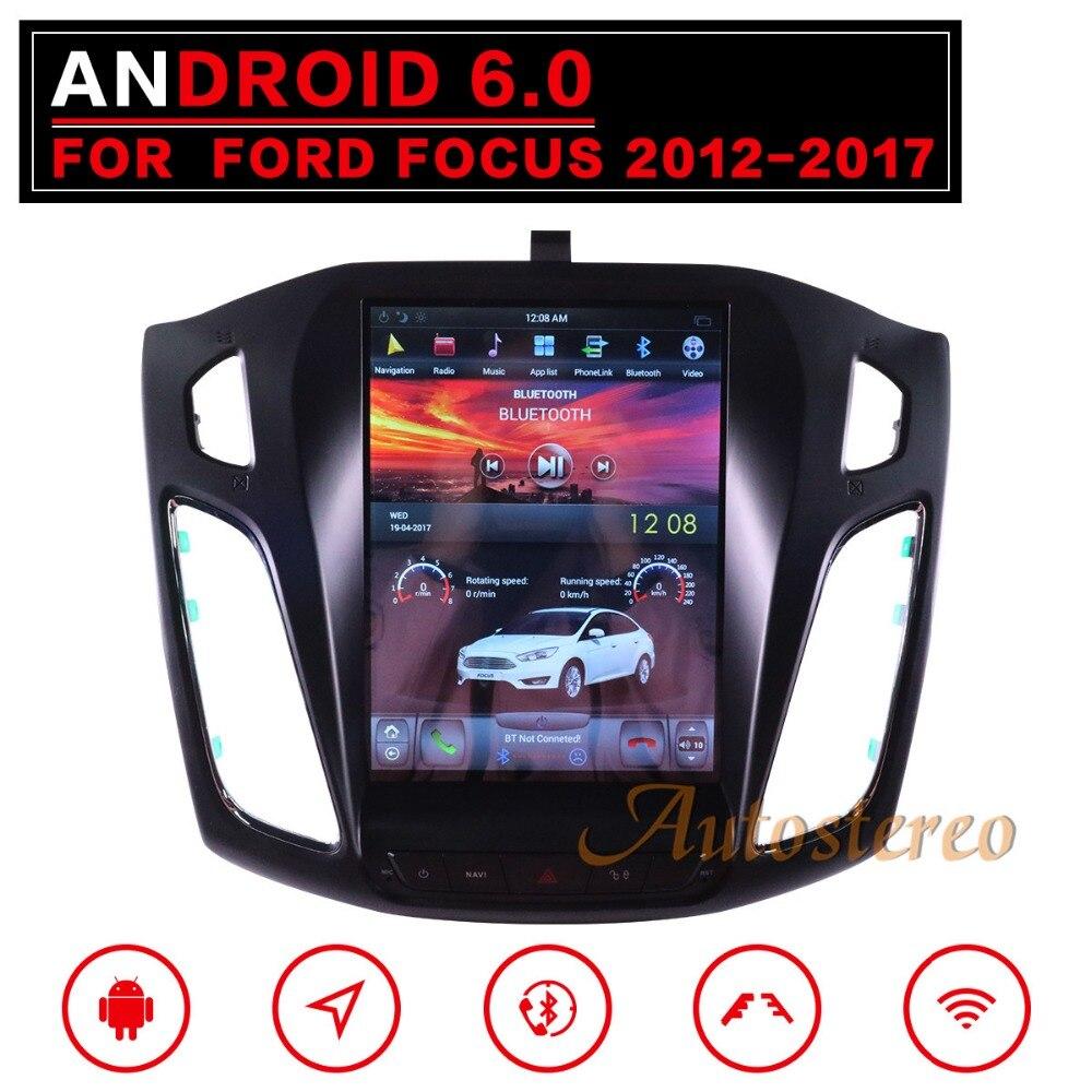 Tesla style Android 7 Grand Écran Voiture Sans Lecteur DVD GPS Navigation Pour Ford Focus 2012-2018 Auto navi stéréo headunit multimédia