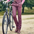 NE High Quality 2015 Men Autumn Winter Warm Suits Pants Fashion Slim Mid Waisted Young Man Retro Long Pants Plus Size Wedding