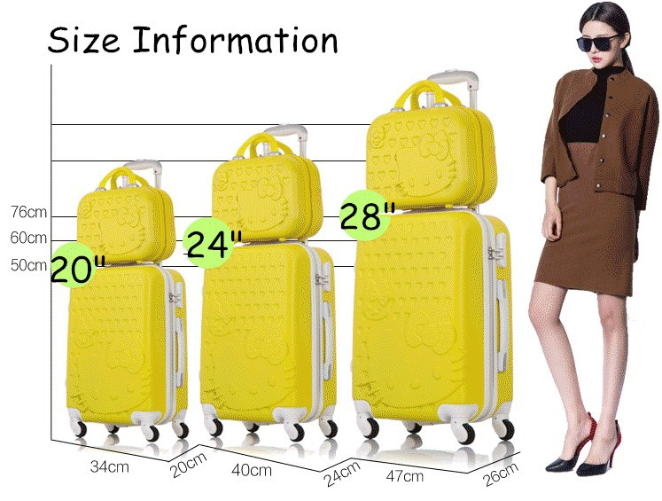 luggage sets,pink discount travel 7