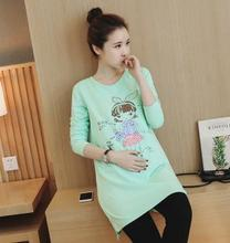 2016 Spring and Fall all-match Maternity clothes pregnant women T-shirt fashion cartoon maternity Tops HYF6161B