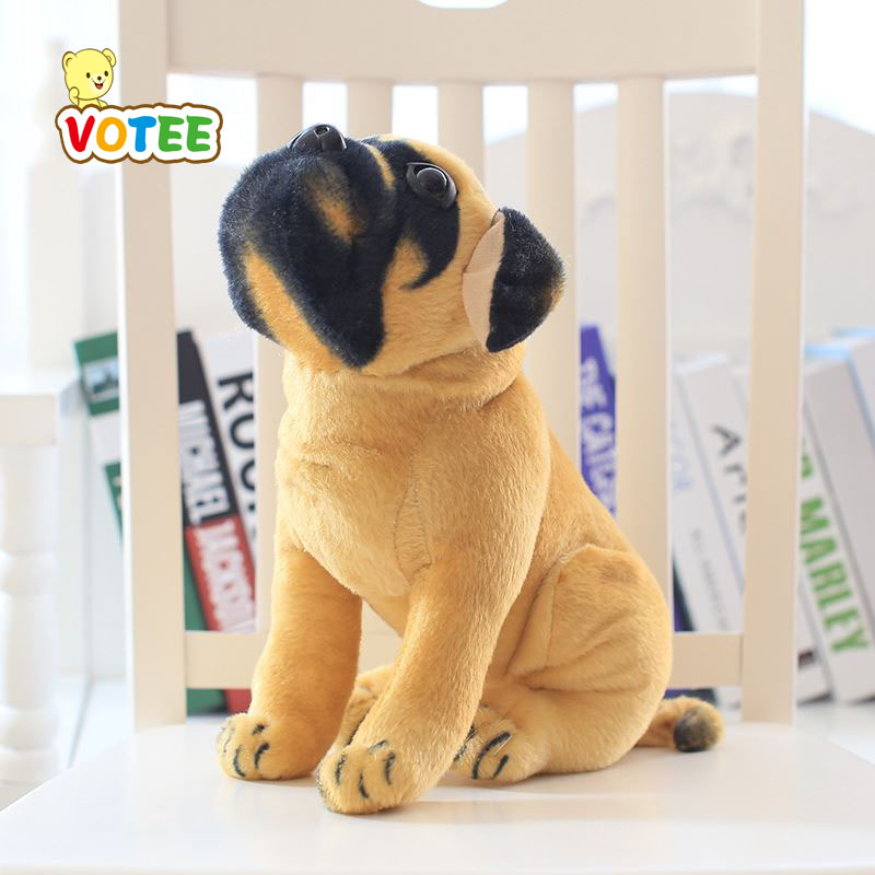 wholesale cartoon The simulation plush toys Pugs dog plush toys kids toys puppy doll christmas gift drop VOTEE super cute plush toy dog doll as a christmas gift for children s home decoration 20