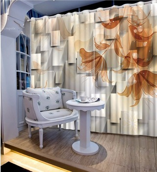 Modern Window Decoration Curtains flower Curtains For Bedroom Beautiful fashion Living room Window Drapes