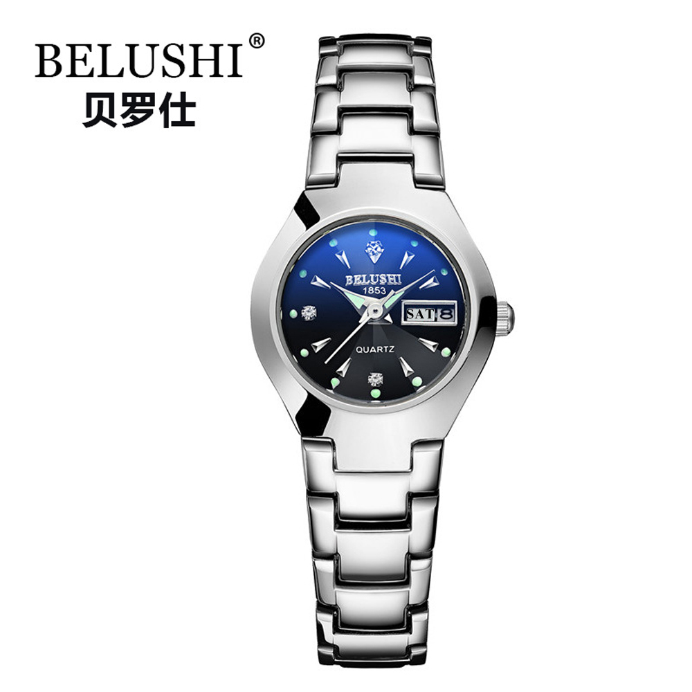 Image 3 - Couple Watches 2019 Top Quality Tungsten Steel Black Wrist Watch for Men and Women Bracelet Female Watch Reloj Hombre Lover Saat-in Lover's Watches from Watches