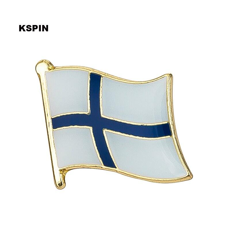 Drapeau de finlande badge épinglette épinglette 100 pièces beaucoup d'icônes de broche KS 0061-in Insignes from Maison & Animalerie    1