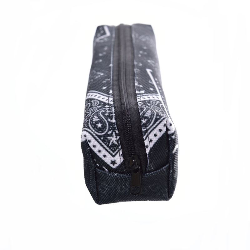FCCEXIO Black Bandana Print Cosmetic Bag 3D New Makeup Bags School Cosmetic Pencil Case Cosmetics Pouchs Storage Bags in Cosmetic Bags Cases from Luggage Bags