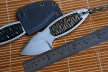 Fule CR Hunting straight AUS-8 Steel Tactical Fixed Blade Knife KYDEX Sheath outdoor survival EDC tools camping kitchen knives
