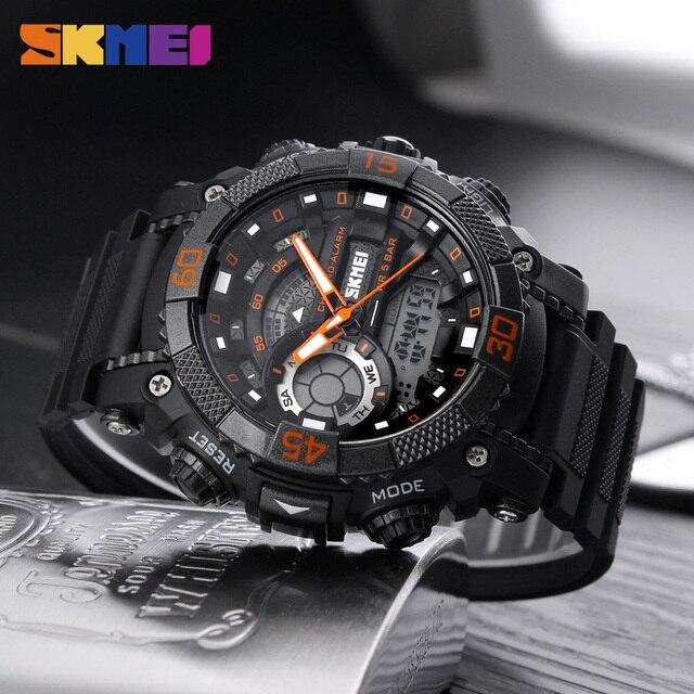 SKMEI 1228 10PCS Men Waterproof Sport Digital Watches LED Display Alarm Clock Top Brand Military Students Wristwatches Relogio