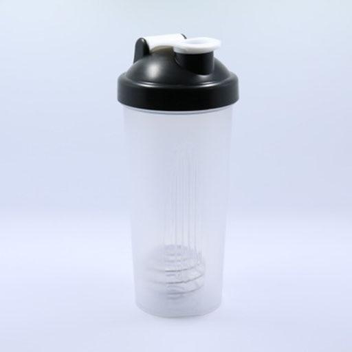 Botella de coctelera de 600 ml con mezclador taza de agua colorida - Camping y senderismo