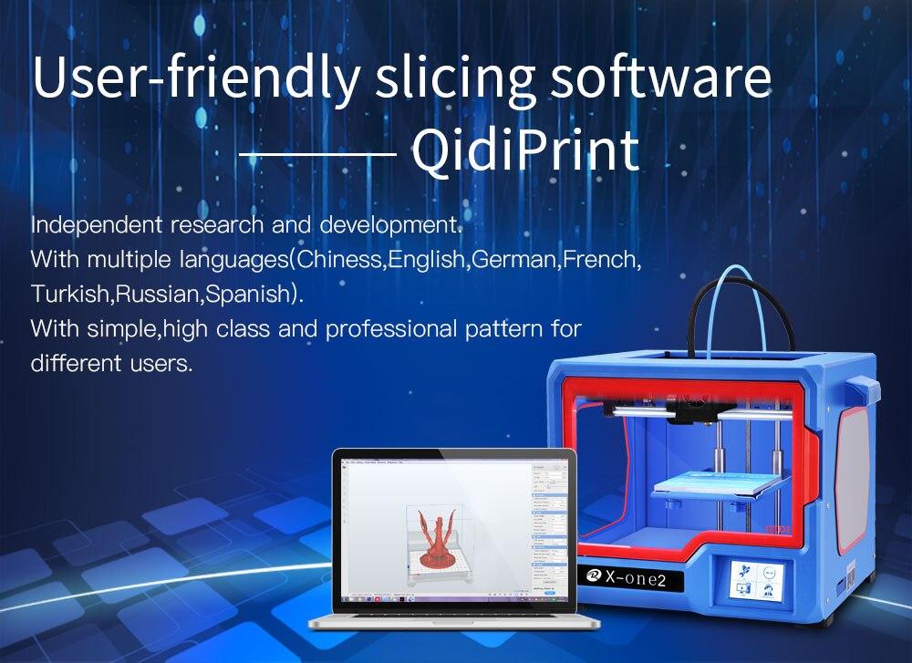 Qidi tech 3d impressora X-one2 3.5 Polegada