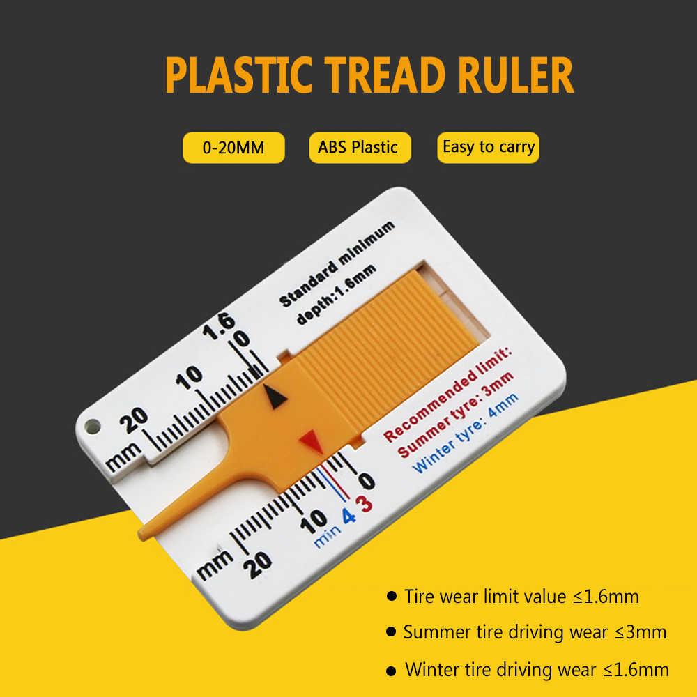 0 - 20 Mm Auto Tyre Tread Depth Gauge Caliper Car Motorcycle Caravan Trailer Wheel Measure Car-styling Repair Tool