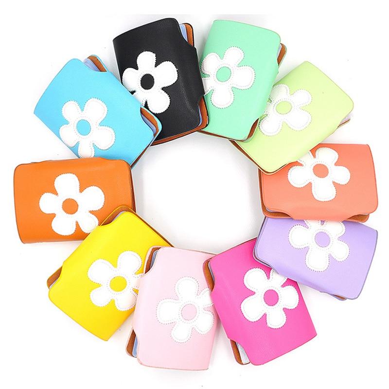 New Fashion Design Men\'s Women Business Card Holders Cute Flower ...