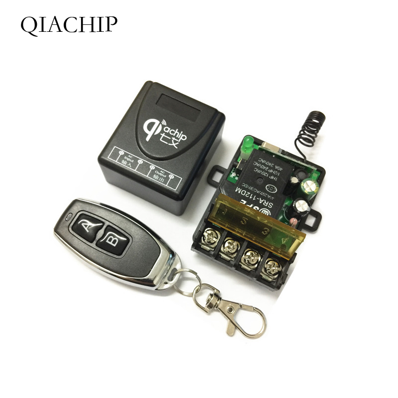 433Mhz Wireless RF Remote Control Switch AC 220V 1CH 30A Relay Receiver and 2 channel 433 Mhz Remote For Water pump in Remote Controls from Consumer Electronics