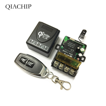 433Mhz  Wireless RF Remote Control Switch AC 220V 1CH 30A Relay Receiver and 2 channel 433 Mhz Remote For Water pump 220v wireless receiver transmitter remote control switch system 30a 3000w 433mhz light lamp led water pump push cover transmiter