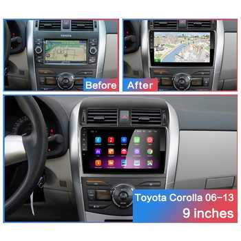 "2G + 32G 9"" 2din Android 10 Car DVD Player for Toyota Corolla E140/150 2006-2013 Car Radio GPS Navigation WIFI Player"