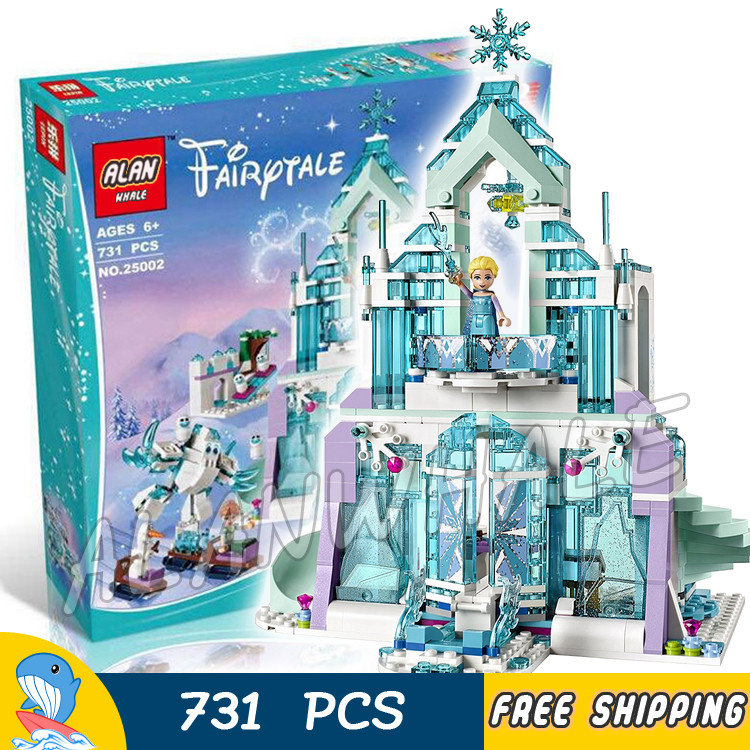 731pcs Princess Series Elsa's Magical Ice Palace 10664 DIY Model Building Blocks Assemble Bricks Toys Hobby Compatible With lego
