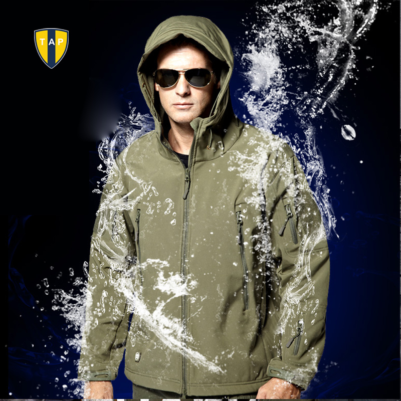 TAD Lurker Shark Skin Jacket Soft Shell Outdoor Military Tactical Jacket Waterproof Windproof Sports Army Clothes  Outerwear