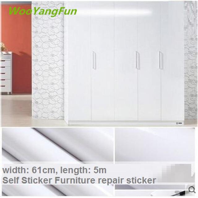 60cmx5m DIY Vinyl Self Adhesive Wallpaper Roll For Furniture Bathroom  Kitchen PVC Stickers Foil Furniture Wardrobe