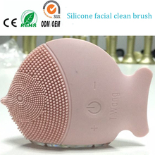 Newest Sonic Vibrating Electric Silicone Facial Makeup Cleaner Brush Skin Pores Cleansing Blackhead Remover Massager Machine