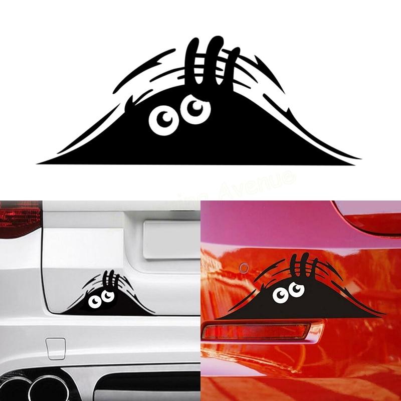 20*8cm Funny Peeking Monster Auto Car Walls Windows Sticker Graphic Vinyl Car Decals Car Stickers Car Styling Accessories 16 strips motorcycle accessories 7 colors car styling decals 17 or 18 inch car stickers wheel rim sticker reflective tape